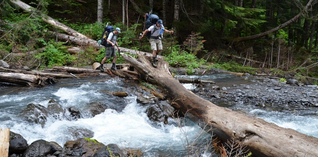 climbing mt baker creek crossing