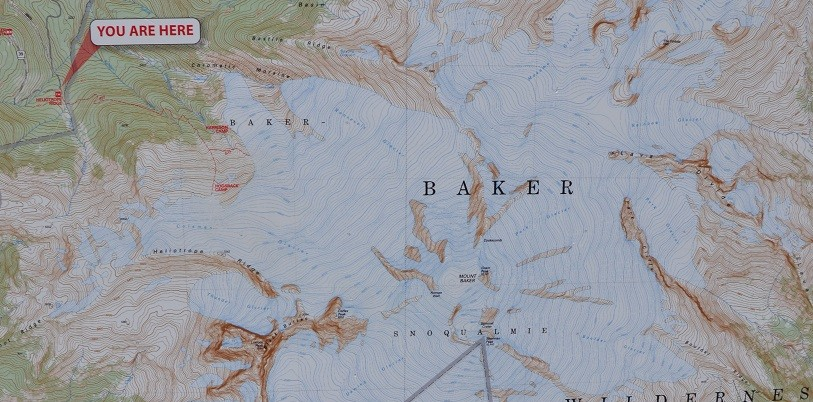 Climbing Mt Baker Map